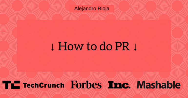 how to do PR marketing