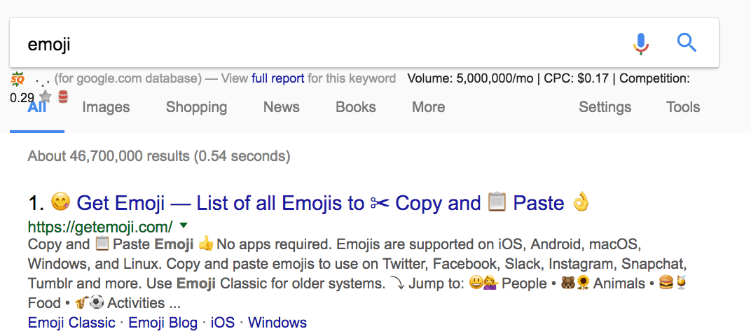 on page seo emoji