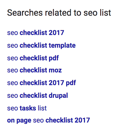 related searches seo