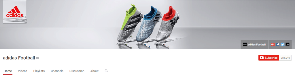 adidas football channel art Youtube SEO