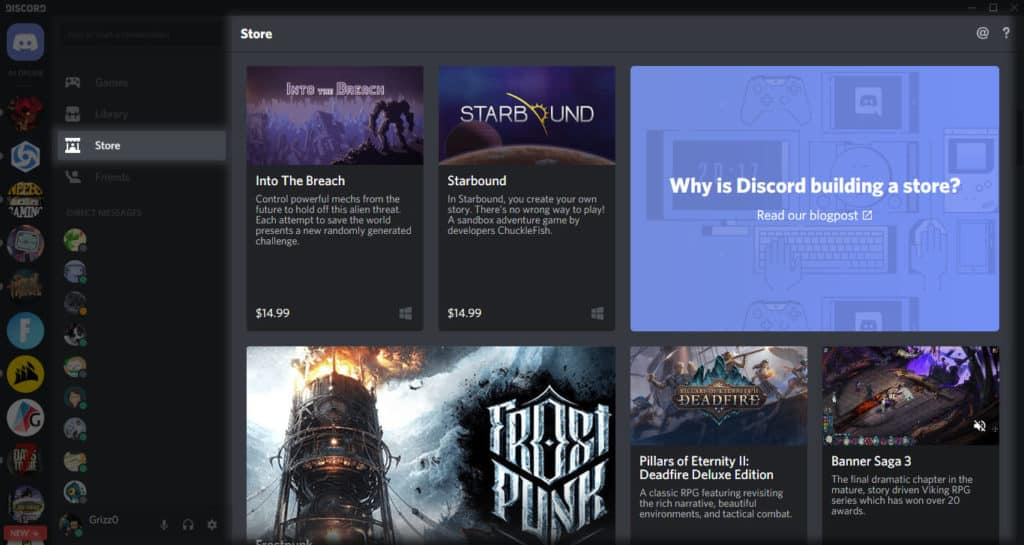 game store discord