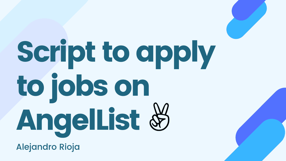 Script to apply to jobs on AngelList