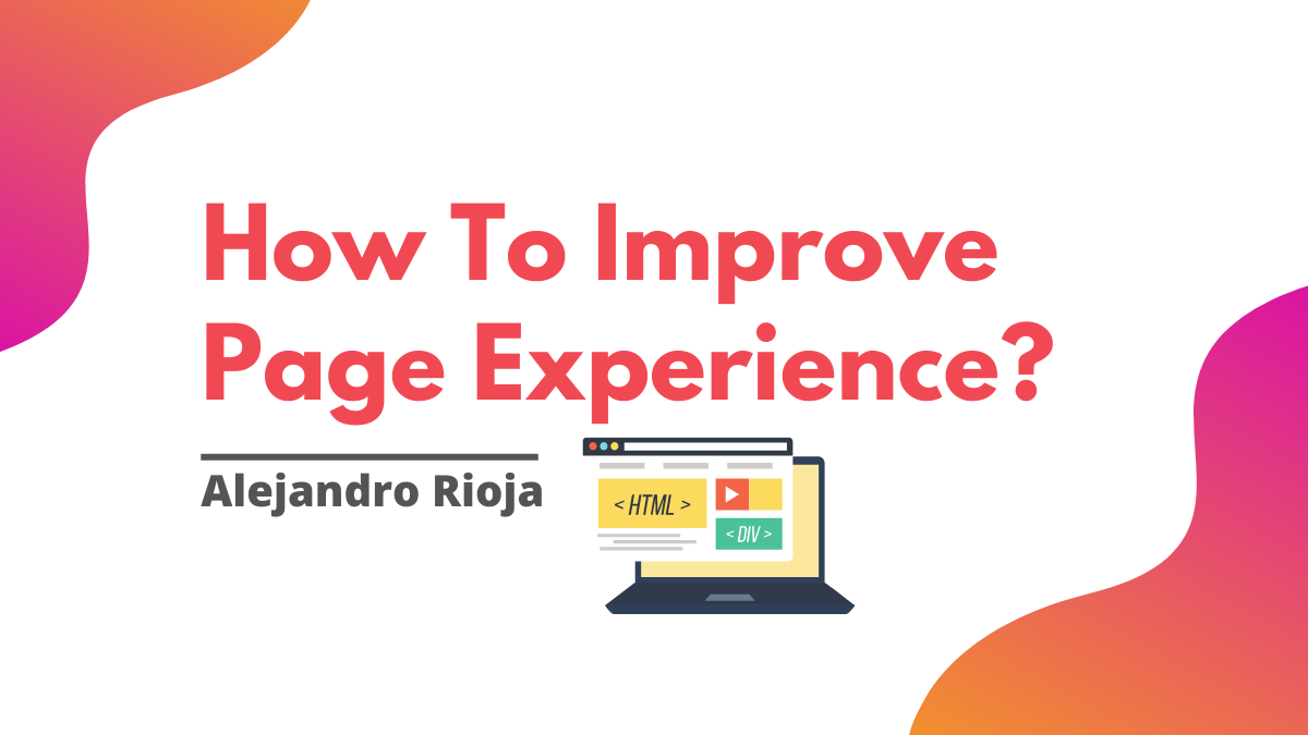 How to improve page experience